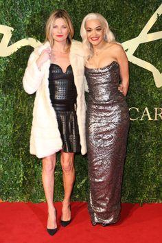 Kate Moss & Rita Ora - British Fashion Awards