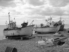 Fishing boats Hythe Kent UK