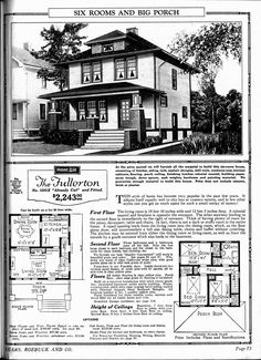 The Fullerton Sears Home - I love the porch!