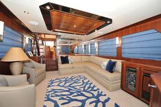 Ocean Alexander 65-Main Salon-Custom Yacht Interior Design-Destry Darr Designs