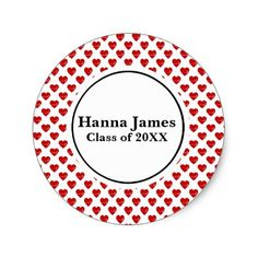 Heart Doctor Nurse Medical Graduation Classic Round Sticker - graduation stickers grad sticker idea unique customize diy