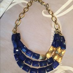 Stella and Dot Perfect condition. Blue and gold necklace. Stella & Dot Jewelry Necklaces