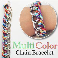 Multi color chain bracelet by Angélica