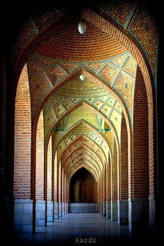 The Blue Mosque, Tabriz, Iran. Image by Ri Za