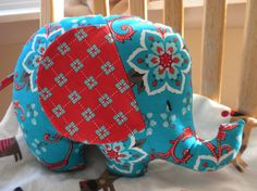 Adventure Elephant Pal stuffed elephant by AnimalCrackersbysue, $22.00