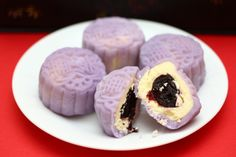 Mini Blueberry Cream Cheese Snowskin Mooncake
