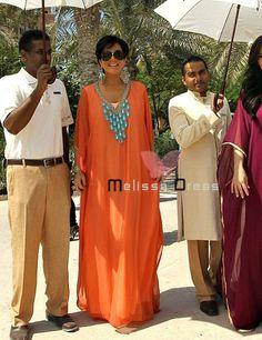 Ventas calientes Naranja Dubai Muy Elegante Caftanes Abaya Jalabiya Ladies Maxi…