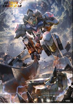Submitted by JR. Suzuki via email.  Fan used Gundam Crosswar arts for these MG Gundam Iron Blooded Orphans series mobile suits.     Gundam B...