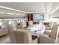 """Private Jet Interiors"" #travel"