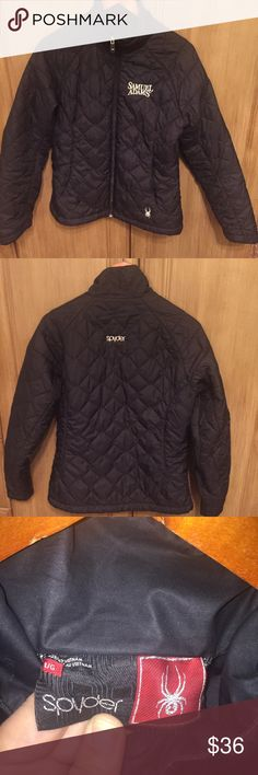 Spyder Quilted Black Jacket EUC- Black Jacket size large with Sam Adams logo embroidered onto the front Spyder Jackets & Coats Puffers