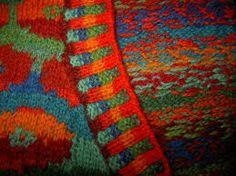 knit detail kaffe fassett poppies