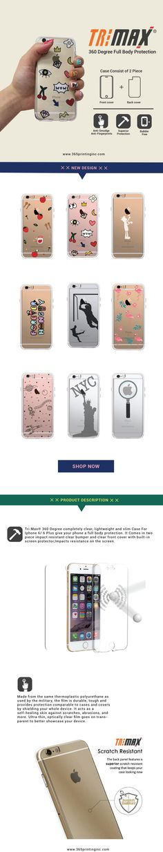 365Printing Tri Max Forever  Clear Transparent TPU Apple iPhone Case