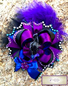 Maleficent Resin bow #Maleficent #hairbow #boutique #bow #Disneyvillains