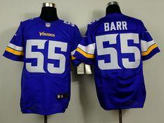 Nike Minnesota Vikings #55 Anthony Barr 2013 Purple Elite Jersey