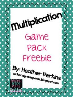 Multiplication Game Pack {Freebie}.. Math...1st, 2nd, 3rd, 4th, 5th...Activities This mini packet contains three multiplication games.