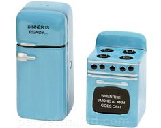 retro kitchen salt and pepper shakers (this is how I always knew dinner was ready growing up!): perpetualKid.com