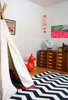 nursery black white rug - Google Search