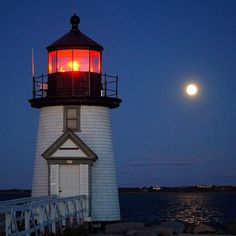 Almost no need for the lighthouse tonight on #Nantucket #editortakeover #fullmoon by nantucket_magazine