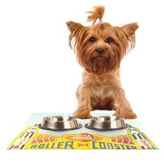 Kess InHouse Libertad Leal 'Life is a Rollercoaster' Feeding Mat for Pet Bowl, 24 by 15-Inch *** You can find more details by visiting the image link. (This is an affiliate link and I receive a commission for the sales)