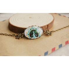 Peacock Medal Pattern Acrylic Link #Bracelet #chemjoy.com