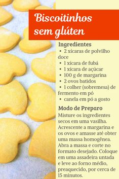 Receita de biscoito sem glúten - Experimente esta receita de biscoitinho caseiro sem glúten e sem lactose. Fica muito crocante e derrete na boca ! Gluten Free Cookie Recipes, Gluten Free Sweets, Gluten Free Cookies, Lactose Free, Dairy Free, Zero Lactose, Easy Cooking, Food Inspiration, Sweet Recipes