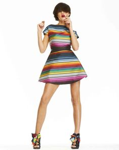 I love the shape of this dress and the Mexican-inspired print.