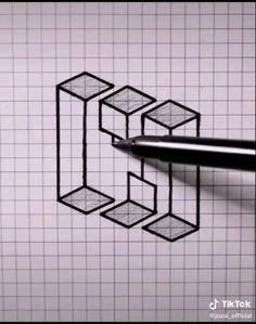 3d Pencil Drawings, 3d Art Drawing, Art Drawings Sketches Simple, Art Drawings Beautiful, Art Drawings For Kids, Easy Drawings, Illusion Drawings, Illusion Art, Optical Illusions Drawings