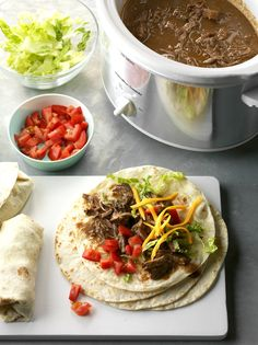 Green Chili Beef Burritos Recipe from Taste of Home