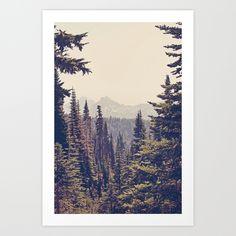 Mountains+through+the+Trees+Art+Print+by+Kurt+Rahn+-+$20.00