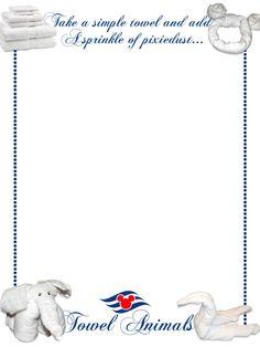 Journal Card - Disney Cruise Line - Towel Animals - 3x4 photo dis_183_DCL_towel_animals.jpg