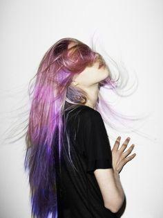purple ombre hair #2