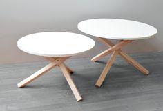 Minimalistyczny okrągły stolik kawowy (TR80) - womeb - Stoliki kawowe