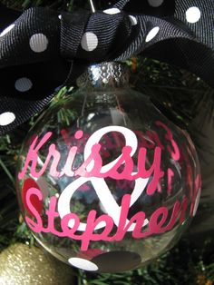 Personalized Couples Christmas Ornament  by SimpleandSassyGifts, $10.00