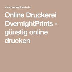 Online Druckerei OvernightPrints - günstig online drucken