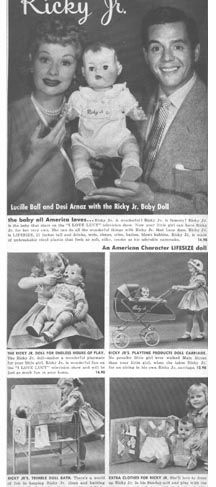 Ricky, Jr. baby doll.  My first baby doll......I was a baby myself - about 2 years old. Oh god, 63 years ago.  Talk about nostalgia.