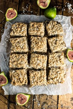 These delicious Coconut Fig Squares are a lot like date squares, only made with fresh green figs. Add them to your list of must-make dessert recipes during fig season! | thendlessmeal.com