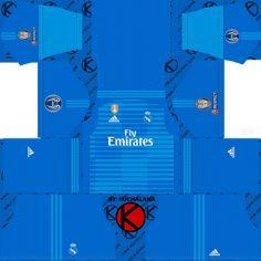 5737d3e4cbe Real Madrid 2018 19 UCL Kit - Dream League Soccer Kits Goalkeeper Kits