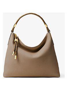 75d2577d41151a Michael Kors Collection Skorpios Large Leather Shoulder Bag Nude Bags, Cute  Handbags, Purses,