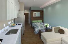Soma Studios pre-fab apartments, http://www.zetacommunities.com 150 sq.ft.
