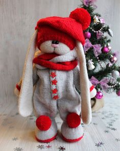 Mesmerizing Crochet an Amigurumi Rabbit Ideas. Lovely Crochet an Amigurumi Rabbit Ideas. Knitted Stuffed Animals, Knitted Bunnies, Knitted Teddy Bear, Handmade Stuffed Animals, Knitted Animals, Knitted Dolls, Crochet Dolls, Crochet Elephant, Crochet Bunny