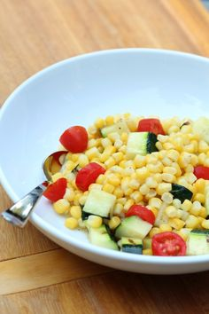 Grilled Zucchini and Corn Salad from Pidges Pantry