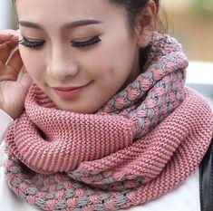 Вязание спицами: снуд «Плетенка»