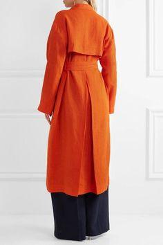 Isa Arfen - Safari Linen Coat - Orange - UK10