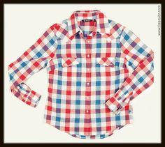 Wanna keep it lady-like? Jazz up the casual chic look with this smart yarn dyed check shirt! Grab it: http://www.freecultr.com/women/women-t-shirts-tops/shirts/linda-check-100-cotton-top.html?top_color=Blue%2C+Red