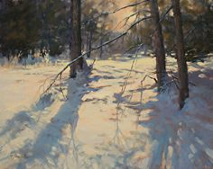 Winter's Beckoning by Barbara Jaenicke Oil ~ 16 x 20