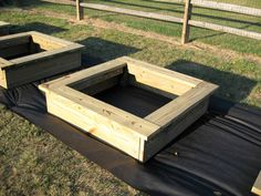 love these raised beds.  You don't have to be old to appreciate having a built-in seat to work from.