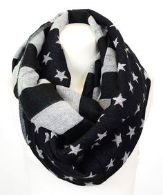 Another great find on #zulily! Black & White Americana Infinity Scarf #zulilyfinds