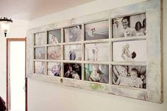Use an old door as 'n photo frame!