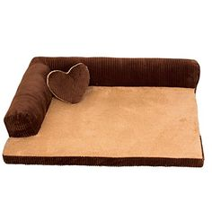 Saymequeen Washable Cotton Corduroy Dog Sofa Kennel Cat Puppy Bed Pet Nest S coffee *** You can find more details by visiting the image link. (Note:Amazon affiliate link)