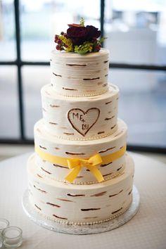 Coastal Gourmet: Birch Tree Wedding Cake